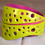 Lime and fuschia bangle
