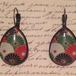 Japanese Flowers teardrop earrings