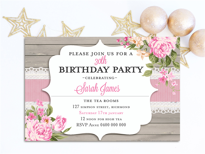 Adults Birthday Invitations