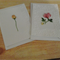 Boxed Set of Handmade Australian Floral Greeting, Gift Cards & includes Pen.
