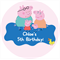 Personalised kids peppa pig birthday party stickers favours favour sticker