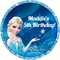 Personalised kids frozen elsa birthday sticker stickers favours favour