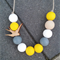 Swallows a flight Necklace - Yellow