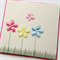 Blank card flowers butterfly Birthday Thank You Hello Thinking Of You Baby