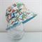 Boys summer hat in cute dinosaur fabric