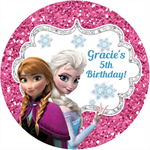Personalised kids frozen movie elsa ana birthday sticker stickers favours favour