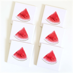 Watermelon Coasters - 6 Ceramic Tile Drink Coasters Watercolour Watermelons