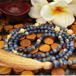 Sodalite Long Boho Tassel Necklace