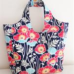 Large bag in beautiful poppy pattern