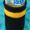 Bottle Cosy - Black and Yellow