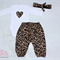 Leopard and Animal print Harem pant onsie set Baby girl