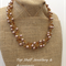 Champagne Pearl  Crochet Wire Beaded Handmade OOAK Necklace by Top Shelf
