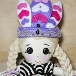 Cloth doll with head dress
