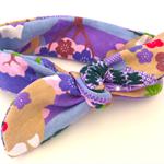 baby's TOP KNOT headband combed cotton, purple, yellow, blue, deer retro, funky.
