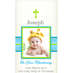 Personalised kids boys baptism christening naming day photo candle candles