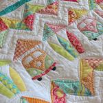Bed Quilt - Handmade Bed Quilt - Sofa Quilt - Kombi Van - Surfboard