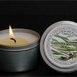 All Natural 40 hr Essential Oil Australian Lemon Scented Gum soy wax candle