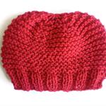 Men's beanies winter knit hat unisex garter stitch beanie
