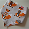 Adjustable Baby Bandana Bib with Bamboo Fleece - Fox