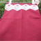 Burgundy apron with cupcakes patchwork applique