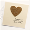 Personalised Engagement card gold glitter heart