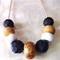Roll The Dice - Faceted Clay Pod Necklace