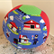 Balloon Ball - Fabric Cover - red/trains/lime