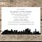Printable Wedding Custom Invitation Brisbane Skyline City Building Destination