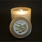 Large Frosted Glass Natural Australian Lemon Scented Gum soy wax candle