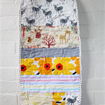 Quilted bassinet liner to fit Joolz - yellow marimekko fabric and deers