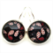 LEVER BACK EARRINGS- Red, black and white petal combinations