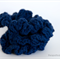 NAVY BLUE Crochet scrunchies, Pack of 3, Cotton, made-to-order