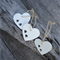 Clay Heart Ornament with 2 Heart - Set of 3