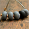 copper and stone (black edition) polymer clay necklace