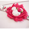 Baby Girls Headband - Pink Floral Minnie Mouse shabby Blossom Flower - Zara BB