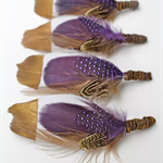 FREE POSTAGE-4X Tiger Bait Feather Groom/Groomsmen Buttonholes
