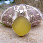 Citron Sea Glass Pendant