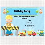 Printable Construction Birthday Invitations