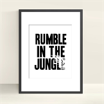 Rumble in the Jungle - Wall Art - 8x10