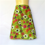 Ladies Retro Green Flower & Bird A Line Skirt - ladies sizes 8-18 avail, floral