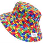 Toddler Hat ~ Jigsaw ~ Wide Brim ~ 48cm