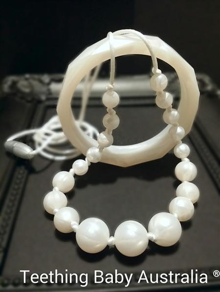 Teething Baby Australia ♡ Teething Pearls Chew Necklace