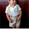 Boys Pants with Braces. Navy Blue Linen. Your choice of size 4 to 6