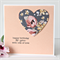 Birthday card for her magnolia paper heart Daughter teen girl Mum Sister