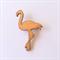 Handmade Wooden Flamingo Brooch - laser cut, wood, retro, vintage
