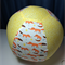 Balloon Ball - Fabric Cover - yellow dots / foxes