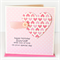personalised birthday card for her pink paper heart polka dots