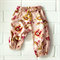 vintage pretty | baby girl play pants | blush pink cotton floral | gift