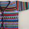 Funky Navy Cardigan - Size 1-2 years - Hand knitted