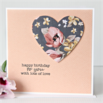 birthday card for her magnolia paper heart with peach